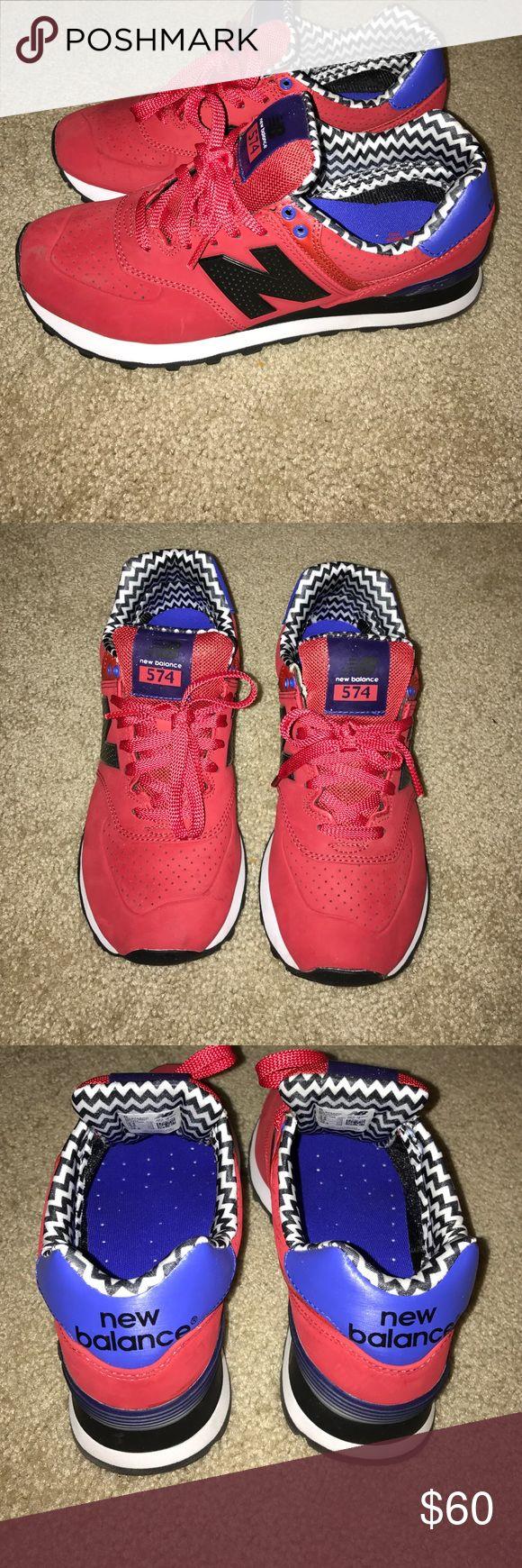 New balance 574 red w/black & white New balance 574 red w/black & white New Balance Shoes Sneakers