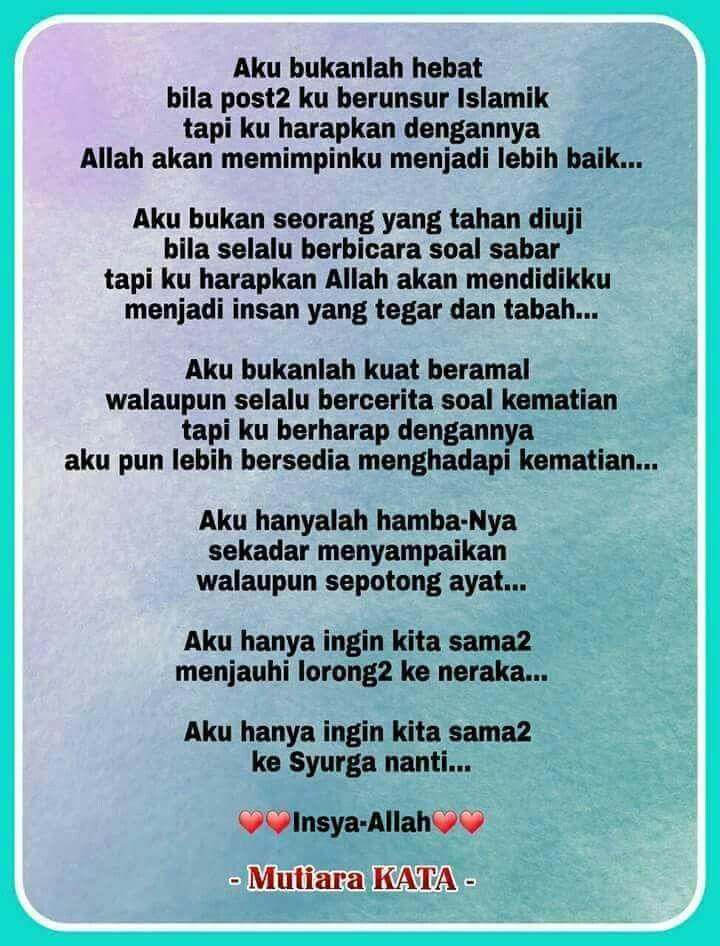 Pin Oleh Lovely Chuey Di Quotes Kutipan Penyemangat Dan Islam