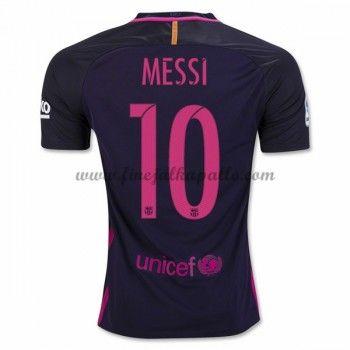 Jalkapallo Pelipaidat Barcelona 2016-17 Messi 10 Vieraspaita