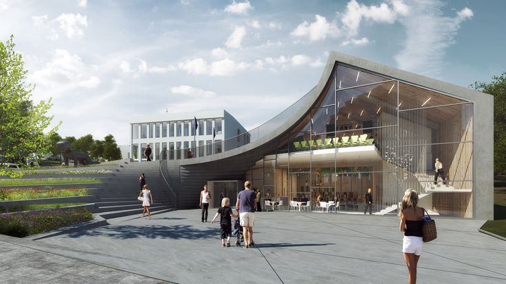 Gallery of PLUKK Designs Town Hall and Community Center On Sloping Site in Czech Republic - 2