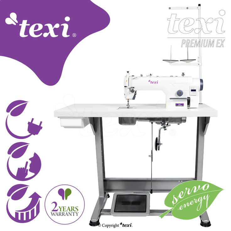 Texi Tronic 1 Premium EX - Mechatronic lockstitch machine for light and medium materials with needle positioning - complete machine - 2 years warranty. #texisewing #sewingmachine #industrial