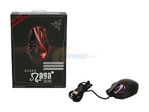 Razer Naga Hex MOBA PC Gaming Mouse - Red