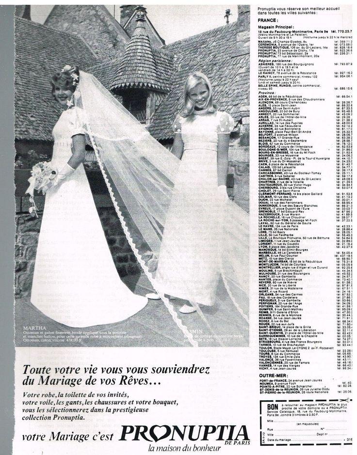 Publicité Advertising 1972 LES Robes DE Mariée Pronuptia | eBay