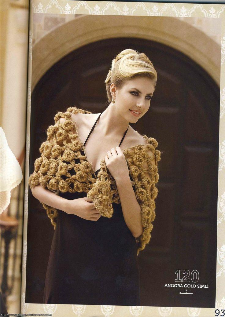 Croche e trico da Fri, Fri´s crochet and tricot: Xales, ponchos em croche - Lindos!!! link para as ...