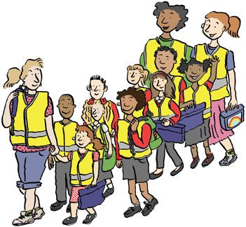 Image result for children walking in a group clipart
