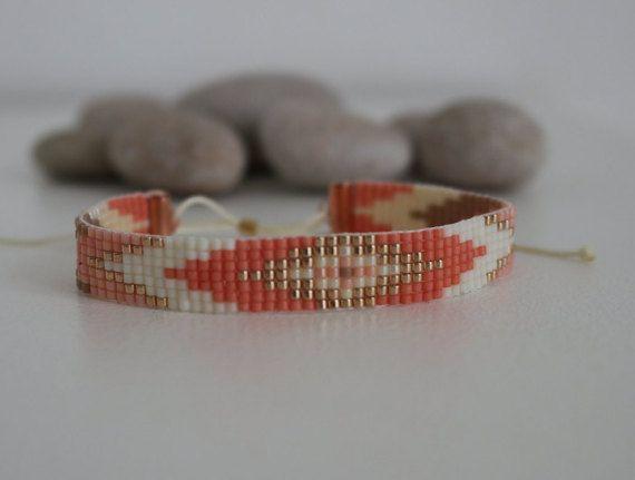 Bracelet en perles miyuki tissées motif Navajo