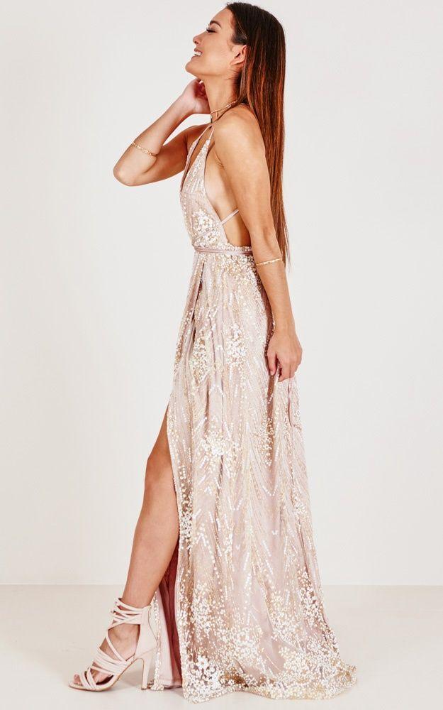 f0004e69d6 New York Nights Maxi Dress In Gold in 2019 | MOda | Dresses, Prom dresses,  Formal dresses
