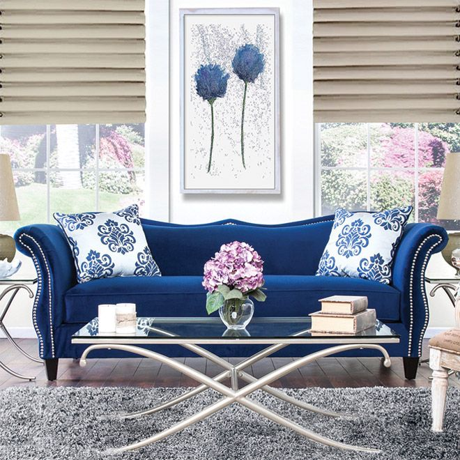 Best 25+ Royal Blue Sofa Ideas On Pinterest | Blue Living Room Furniture,  Sofa For Room And Decorations For Room Part 29