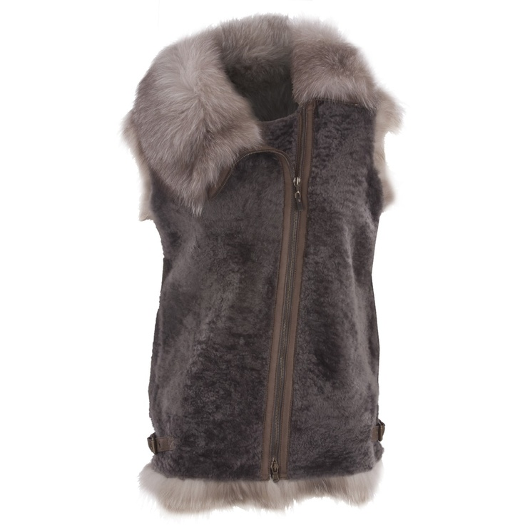 Hirshleifers - Brunello Cucinelli - Asymmetrical Fox and Shearling Jacket (Charcoal), $6,495.00 (http://www.hirshleifers.com/ready-to-wear/jackets/brunello-cucinelli-asymmetrical-fox-and-shearling-jacket-charcoal/)
