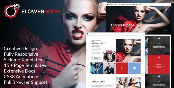 Deals FlowerBomb - Modern Responsive Masonry Folio Siteyou will get best price offer lowest prices or diccount coupone