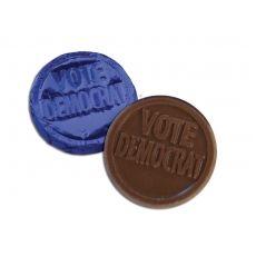 Vote Democratic Chocolate Coin