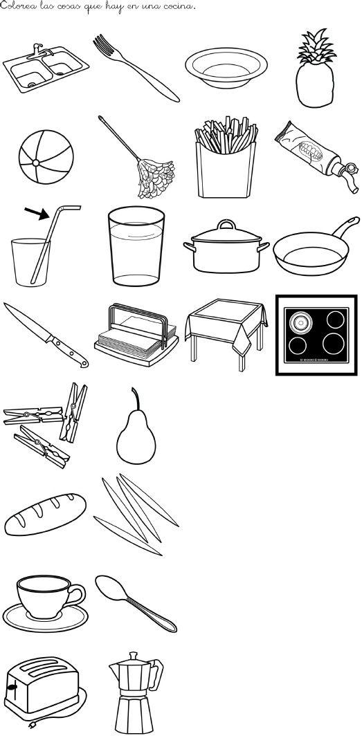 cherchez l´intrus: quels objets n´appartiennent pas à la cuisine?
