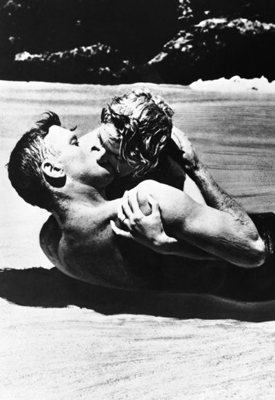 The 29 Most Iconic Movie Kisses of All Time for International Kissing Day - From Here To Eternity from InStyle.com