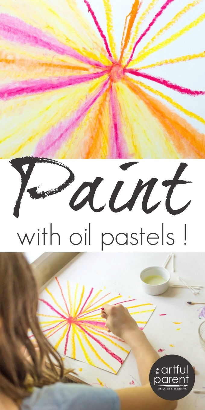 Try these easy oil pastel painting techniques with kids. Combine the vibrant colors & smooth application of oil pastels with baby oil for a painting effect.