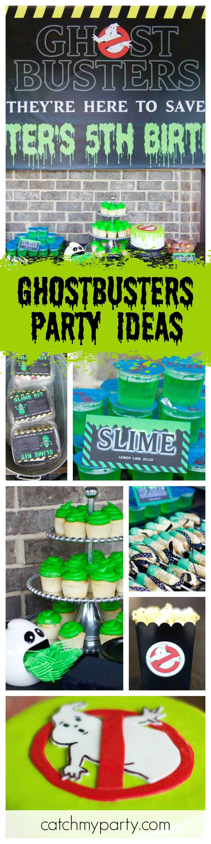 Check out this Ghostbuster Birthday Party! Love how the cutlery is served! Such a great theme for Halloween Party too! See more party ideas and share yours at CatchMyParty.com