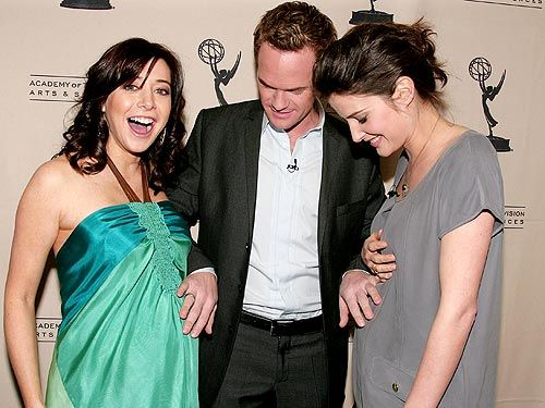Alyson Hannigan and Cobie Smulders and NPH