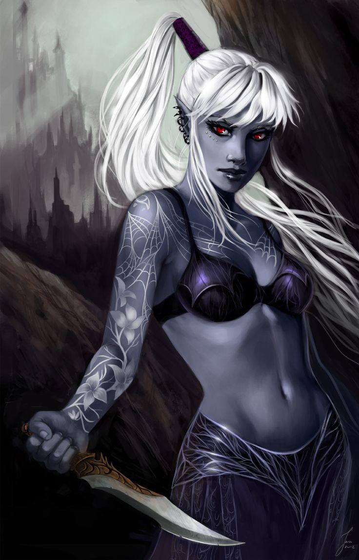 Fantasy nudes elf vampire assassin was specially