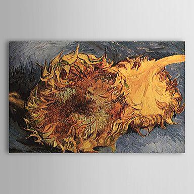 現代アートなモダン キャンバスアート 絵 壁 壁掛け 油絵の特大抽象画1枚で1セット ファン・ゴッホ 2本のひまわり 油絵 花 植物 複製品 【納期】お取り寄せ2~3週間前後で発送予定【送料無料】ポイント