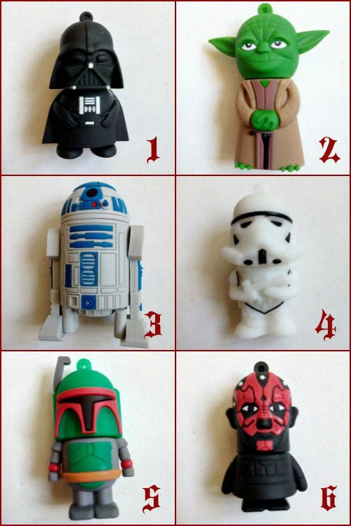 USB Flash Pen 8GB Star Wars - Yoda Darth Maul Vader Stormtropper Boba Fett R2-D2