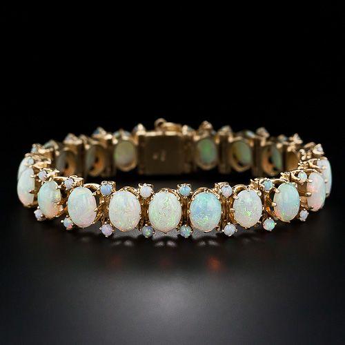 I have loved opals since childhood.  Mid-Century Opal Bracelet