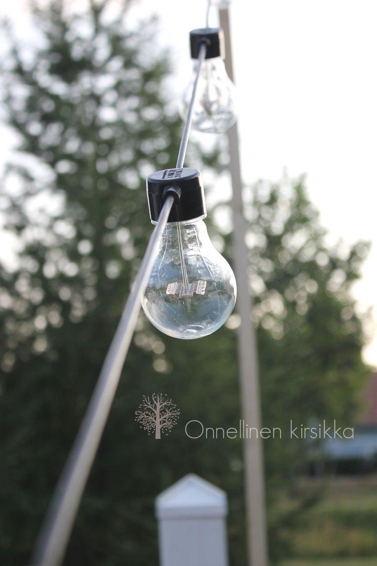 Konstsmide lights outside. String lights