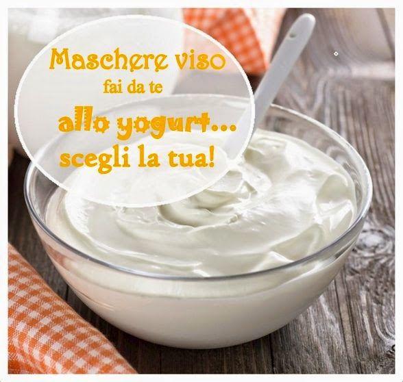Maschere viso fai da te a base di yogurt
