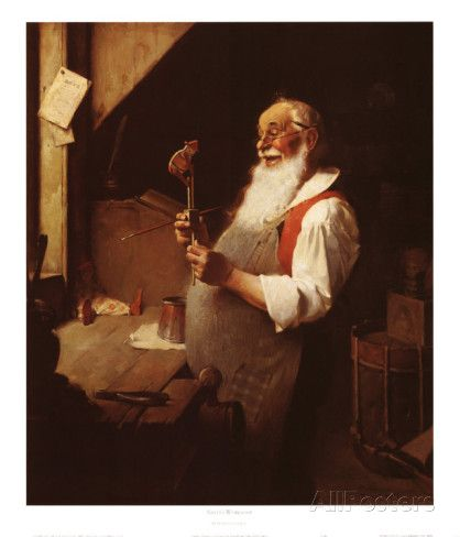 Santa's Workshop Poster by Norman Rockwell at AllPosters.com