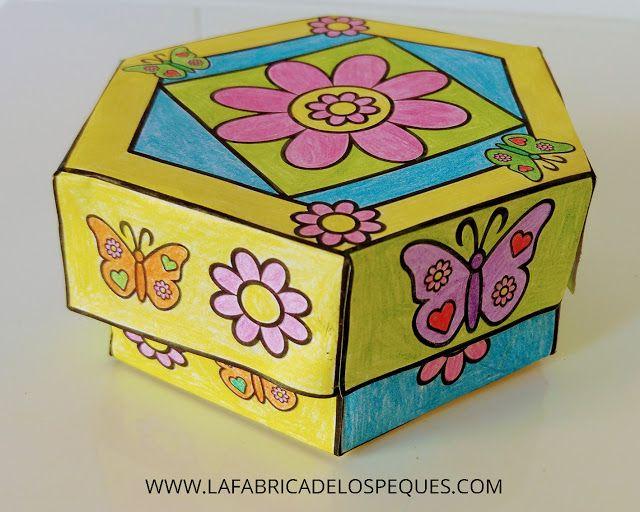 La fábrica de los peques: Imprimibles gratis: caja hexagonal.