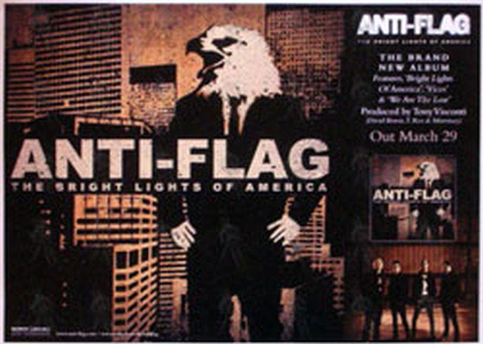 ANTI-FLAG - 'The Bright Lights Of America' Album Promo Poster (Posters, Regular Sizes) | Rare Records