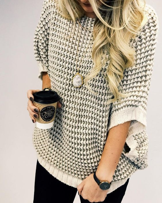 Gotta love a slouchy sweater that still manages to have some texture to it.