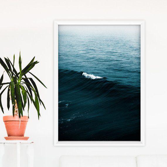Indigo Sea Art Print Ocean Photography Sea Waves Print Modern Ocean Print Coastal Wall Art Minimalist Photography Wall Art Printable Fotografia Del Oceano Arte Del Mar Fotografia Minimalista