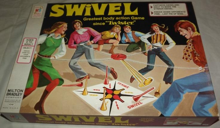 80 S Milton Bradley Toys : Milton bradley swivel action game vintage games