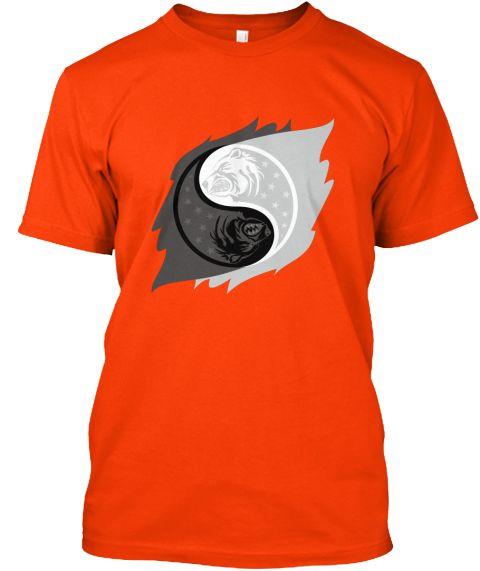 Bear Yin Yang Orange T-Shirt Front