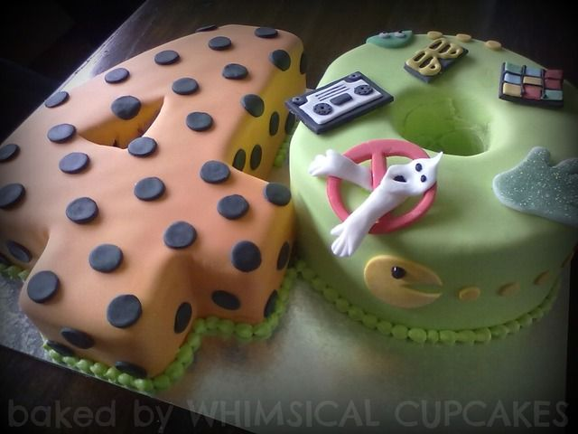 Such a fun 80's style 40th birthday cake! #80s #birthday #cake