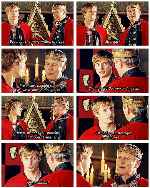 I loved the moments in the series when Uther wastnt being a tryant, and him and arthur had moments like this - writren by Kylee Nason