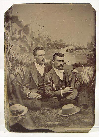 Vintage Gay Couple Photo - 1870s
