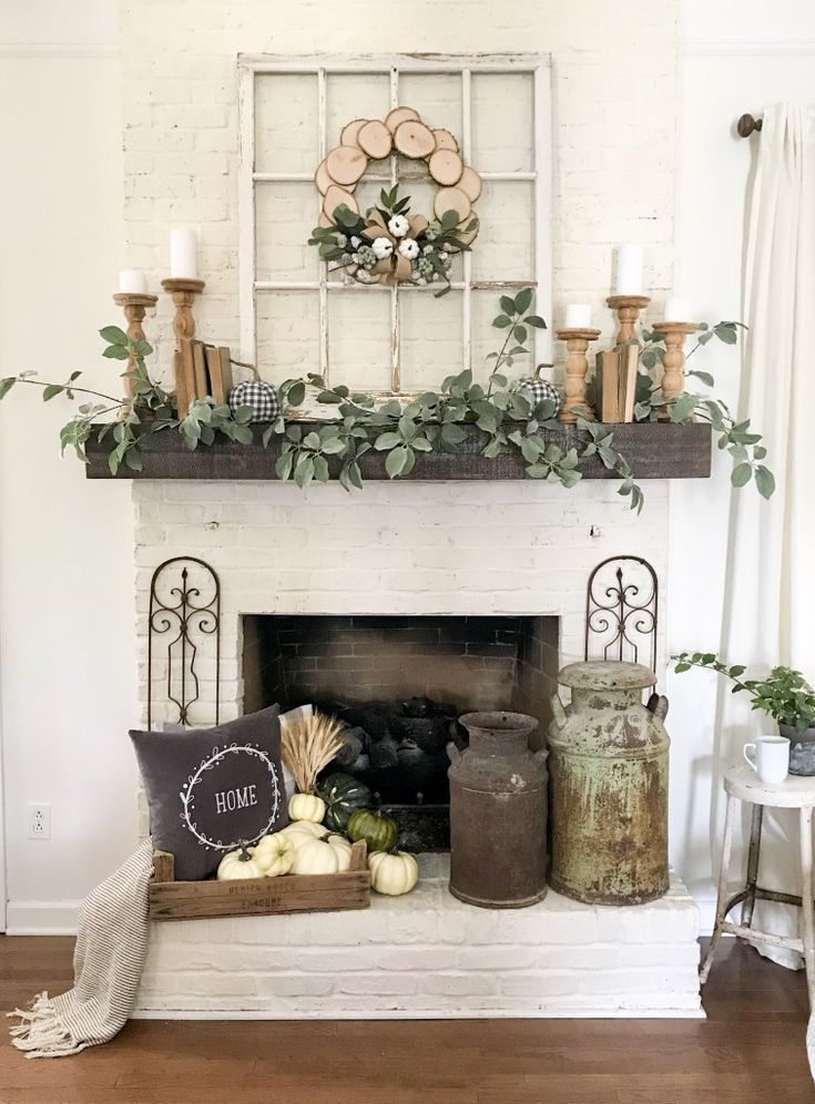 My Home Decor Guide: My Fall Mantel Decor With JOANN