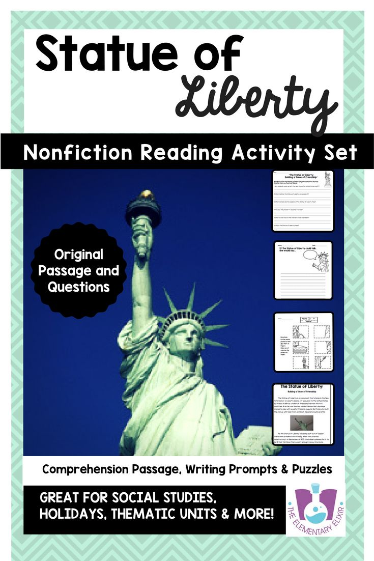 Statue of liberty facts on pinterest statue of black statue of looking for activities to teach a lesson about statue of liberty facts this printable worksheet biocorpaavc