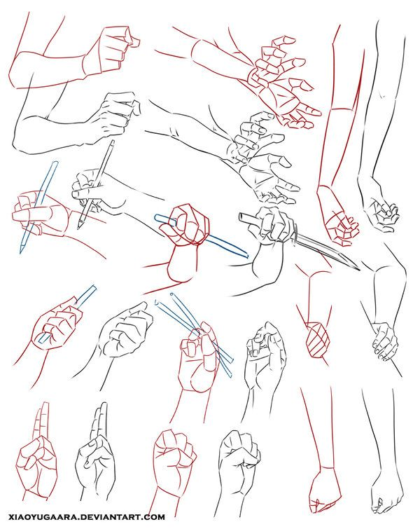 Hand Study ✤ || CHARACTER DESIGN REFERENCES | Find more at https://www.facebook.com/CharacterDesignReferences