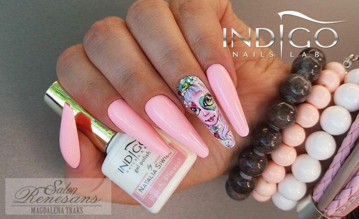 Beach, Please! New Colour from Spring Summer Collection by Natalia Siwiec - Indigo Educator Magdaleny Traks #nails #nail #indigo #gelnails #think #pink #gelpolish #new #spring #natalia #siwiec
