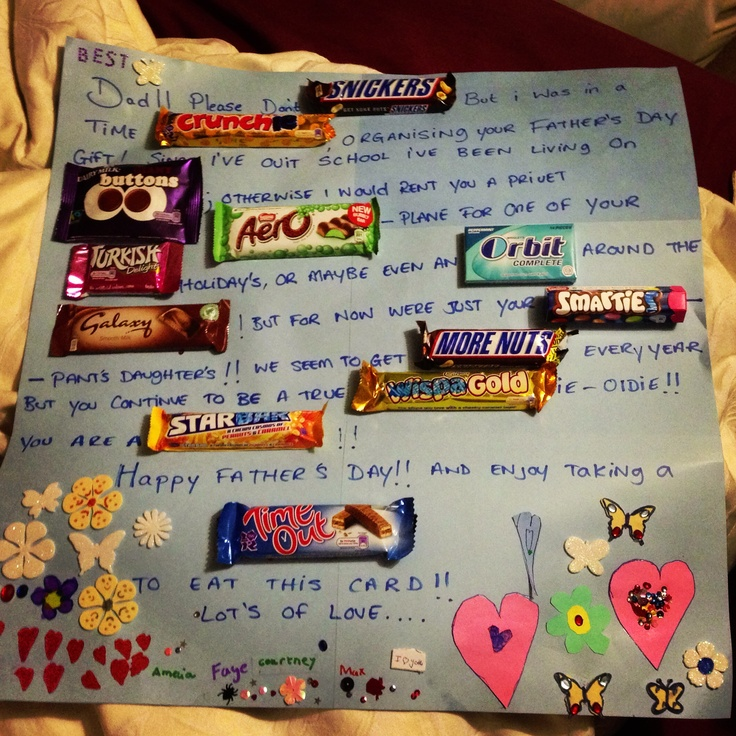 Father's Day, Chocolate Card And Cards
