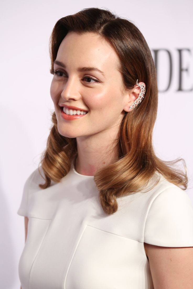 Leighton Meester's fresh makeup and sleek strands made for one of our FAVORITE beauty looks of the week // #celebritybeauty