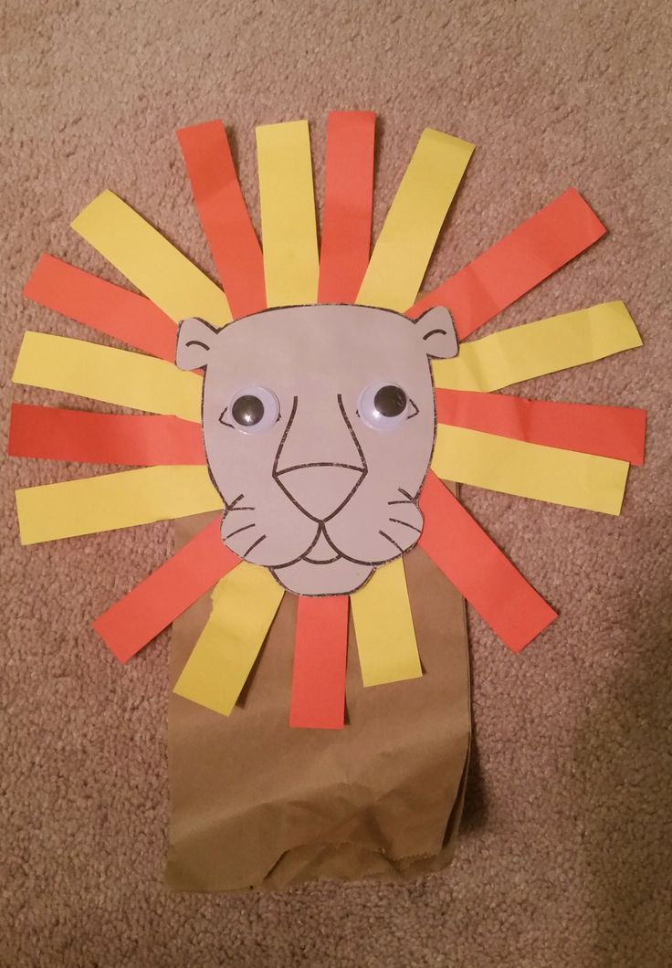 paper bag crafts puppet craft for preschoolers glue to 2606