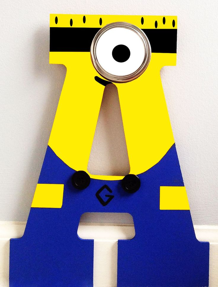 Minion Inspired Letter