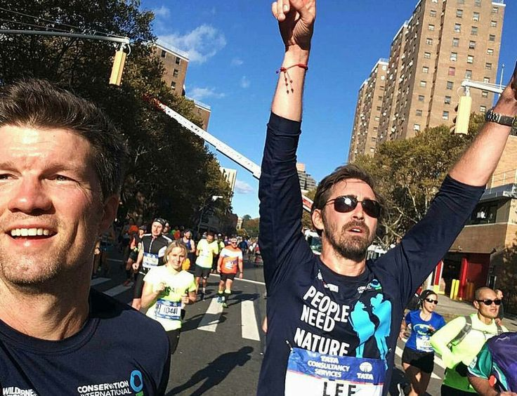 Lee Pace NYC Marathon