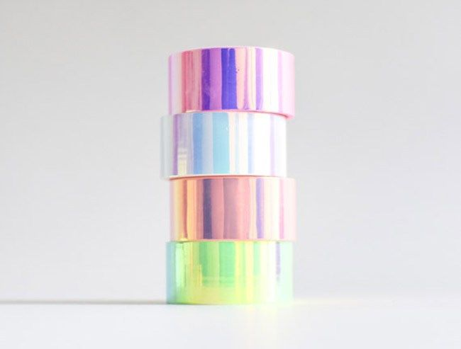 Iridescent holographic Washi Tape - See more iridescent hologram party ideas on B. Lovely Events
