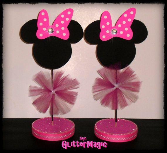 Centros de mesa para fiesta de Minnie Mouse - Imagui