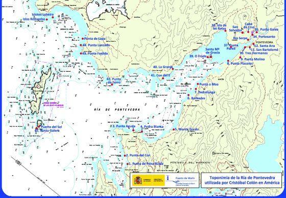 Una carta náutica muestra 45 topónimos gallegos utilizados por Colón en América | Galicia | EL PAÍS #Galicia #Galiza