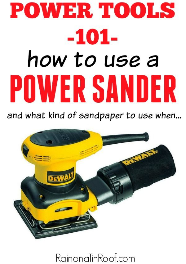 """I especially like the """"which sandpaper to use when"""" section. {The basics of how to use a sander and what all it can do - How to Use a Sander}"""