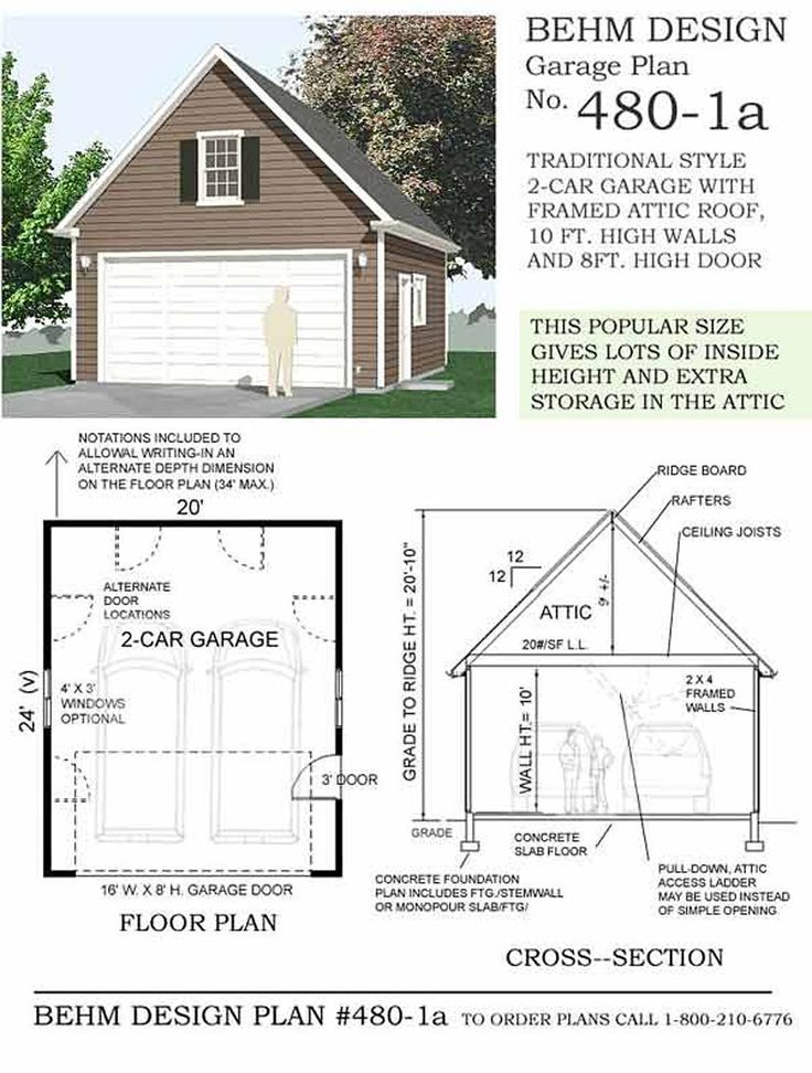 1000 ideas about two car garage on pinterest garage for 20 x 24 garage plans with loft